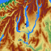 Nearby Forecast Locations - Lake Pukaki - Map