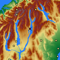 Nearby Forecast Locations - Lake Tekapo - Map