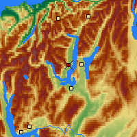 Nearby Forecast Locations - Lake Wanaka - Map