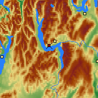 Nearby Forecast Locations - Lake Wakatipu - Map