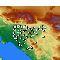 Nearby Forecast Locations - Chino - Map