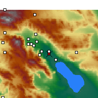 Nearby Forecast Locations - Thermal - Map