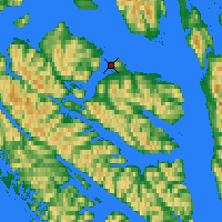 Nearby Forecast Locations - Hoonah - Map