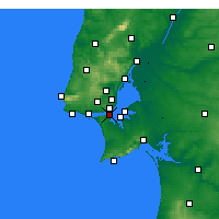 Nearby Forecast Locations - Almada - Map