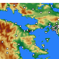 Nearby Forecast Locations - Temple of Isthmia - Map
