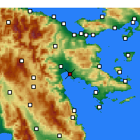 Nearby Forecast Locations - Nafplio - Map