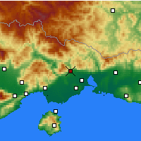 Nearby Forecast Locations - Xanthi - Map