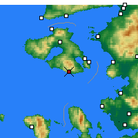 Nearby Forecast Locations - Plomari - Map