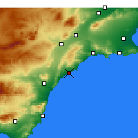 Nearby Forecast Locations - Águilas - Map