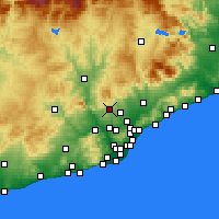 Nearby Forecast Locations - Terrassa - Map
