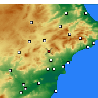 Nearby Forecast Locations - Elda - Map