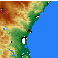 Nearby Forecast Locations - Sagunto - Map