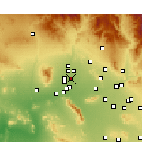 Nearby Forecast Locations - Glendale - Map