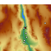Nearby Forecast Locations - Bullhead City - Map