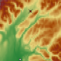 Nearby Forecast Locations - Chulitna - Map