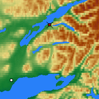 Nearby Forecast Locations - Port Alsworth - Map