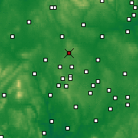 Nearby Forecast Locations - Cannock - Map