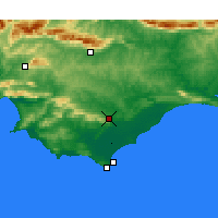 Nearby Forecast Locations - Bredasdorp - Map