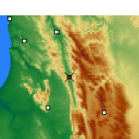 Nearby Forecast Locations - Citrusdal - Map
