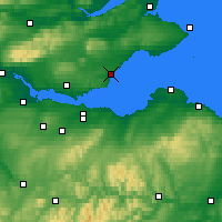Nearby Forecast Locations - Kirkcaldy - Map
