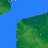 Nearby Forecast Locations - Calais - Map