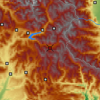 Nearby Forecast Locations - Valle de l'Ubaye - Map
