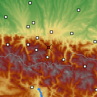 Nearby Forecast Locations - Aspin-Aure - Map