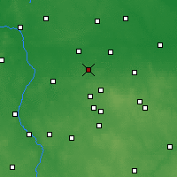 Nearby Forecast Locations - Ozorków - Map