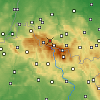Nearby Forecast Locations - Szklarska Poręba - Map
