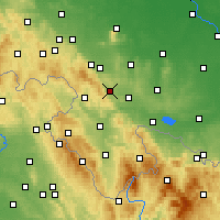 Nearby Forecast Locations - Żdanów - Map
