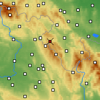 Nearby Forecast Locations - Duszniki-Zdrój - Map