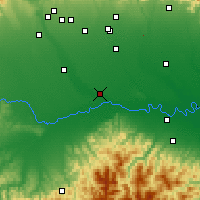 Nearby Forecast Locations - Pavia - Map