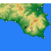 Nearby Forecast Locations - Vittoria - Map
