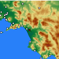 Nearby Forecast Locations - Battipaglia - Map