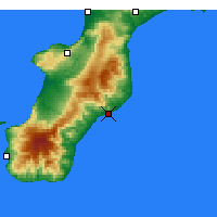 Nearby Forecast Locations - Roccella Ionica - Map