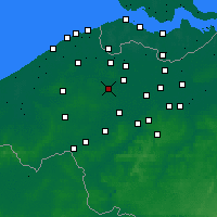 Nearby Forecast Locations - Aalter - Map