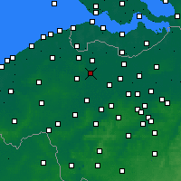 Nearby Forecast Locations - Zomergem - Map
