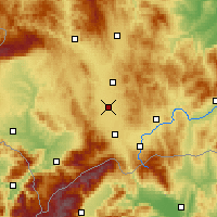 Nearby Forecast Locations - Lipljan - Map