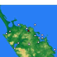 Nearby Forecast Locations - Kaeo - Map