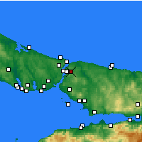 Nearby Forecast Locations - Ümraniye - Map