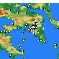Nearby Forecast Locations - Piraeus - Map