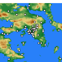 Nearby Forecast Locations - Kallithea - Map