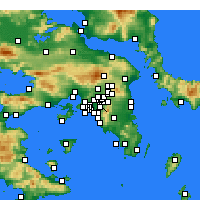Nearby Forecast Locations - Zografou - Map
