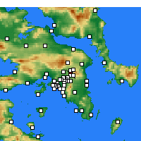 Nearby Forecast Locations - Kifisia - Map