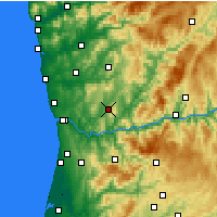 Nearby Forecast Locations - Penafiel - Map