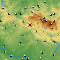 Nearby Forecast Locations - Jablonec nad Nisou - Map