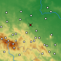 Nearby Forecast Locations - Jawor - Map