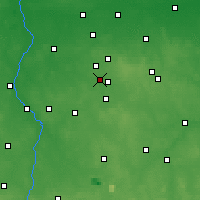 Nearby Forecast Locations - Konstantynów Łódzki - Map