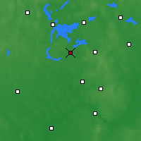 Nearby Forecast Locations - Pisz - Map