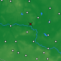 Nearby Forecast Locations - Sulechów - Map